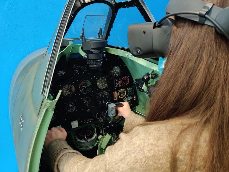 Simulator letenja z letalom Spitfire